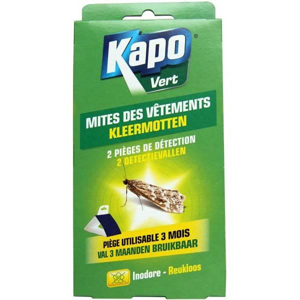 2 pièges de détection mites des vêtements - Kapo Vert