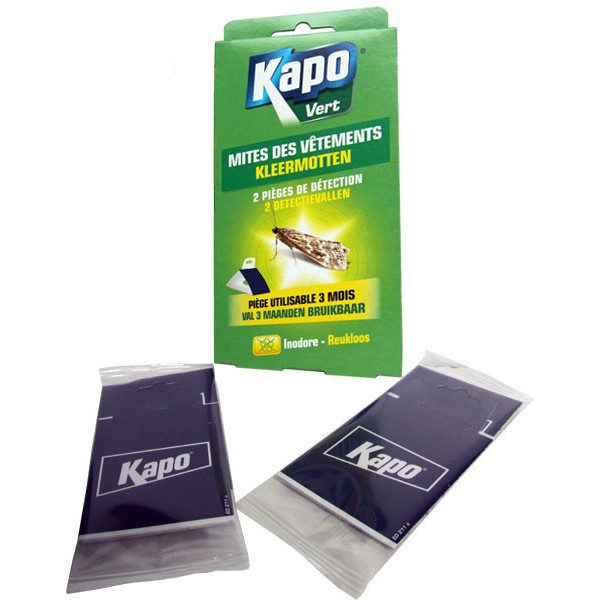 2 pièges de détection mites des vêtements - Kapo Vert - Vue 3