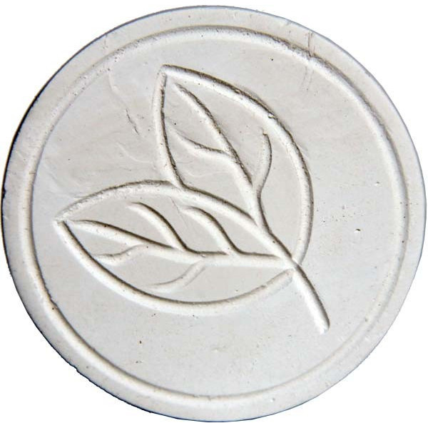 Décor feuille du dffuseur autonome grand galet à l'argile blanche