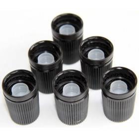 Lot de 6 bouchons Roll-On bille acier pour flacon en verre - DIN18 - Vue 1