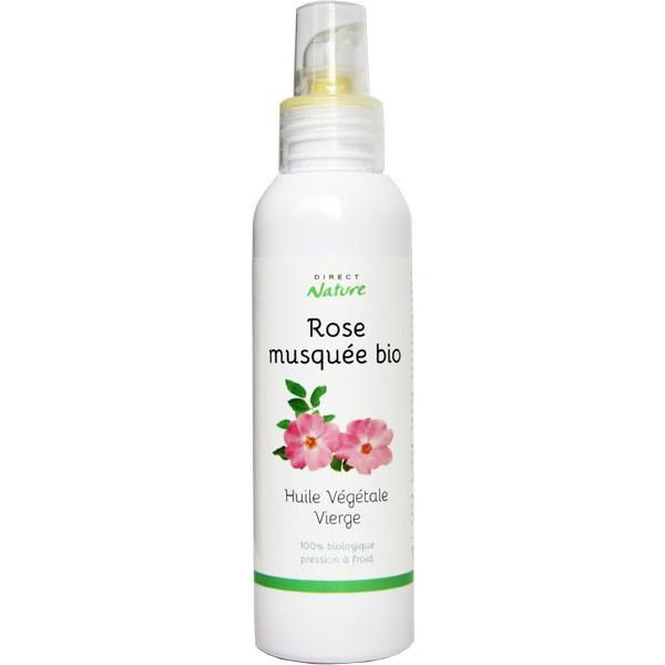 Huile végétale de rose musquée bio – 100ml – Direct Nature