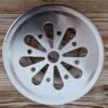 Vue de dessus du couvercle du pot en verre Lamazuna