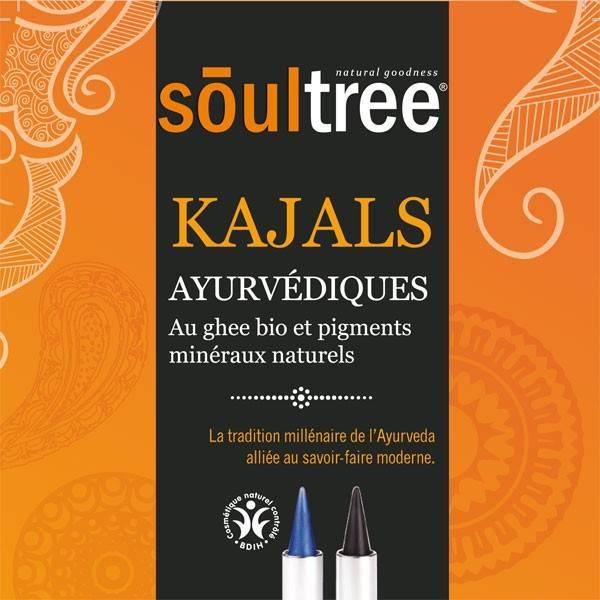 Kajals ayurvédiques bio Soultree aux ghee bio et pigments minéraux naturels