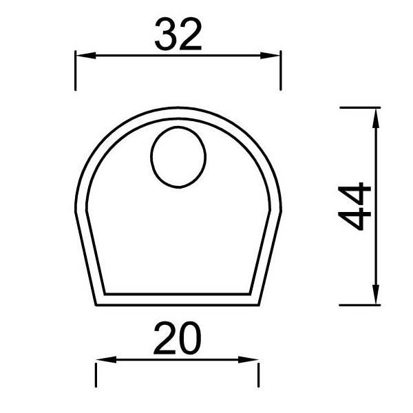 Dessin technique et dimensions pour le silencieux Daolia