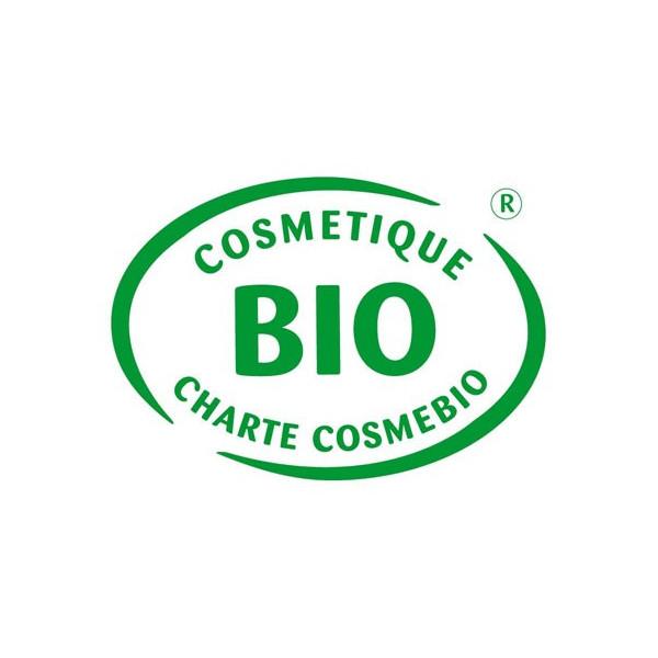 Logo Cosmebio pour le lait démaquillant visage et yeux Eau Thermale Montbrun
