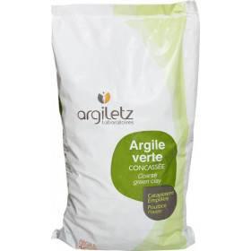 Argile verte brute illite concassée - 3 kg - Argiletz - Vue 1