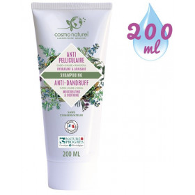 Nouveau packaging pour le shampooing Anti-pelliculaire Cade Sauge Rhassoul Cosmo Naturel