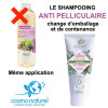 Shampooing Anti-pelliculaire Cade Sauge Rhassoul – 200 ml – Cosmo Naturel