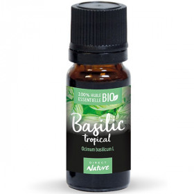 Basilic tropical AB - Feuilles - 10 ml - Huile essentielle Direct Nature