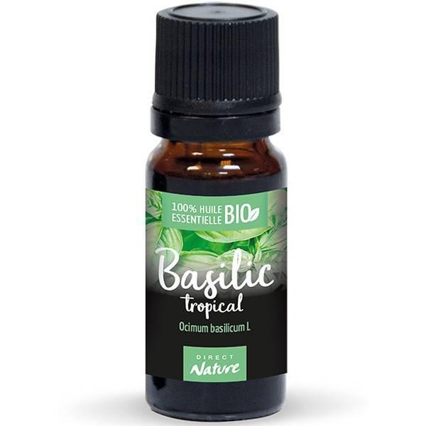 Basilic tropical AB - Feuilles - 10 ml - Huile essentielle Direct Nature