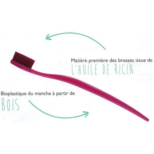 Brosse à dents bleu à base de bioplastique - Biobrush Berlin - Vue 1