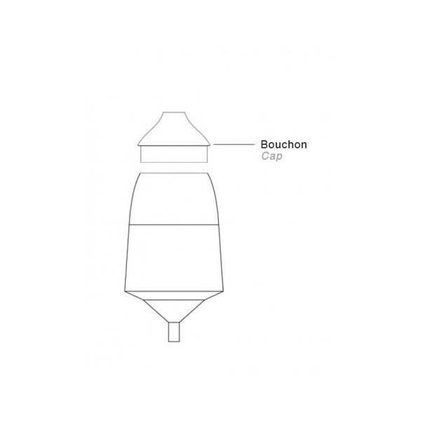 Silencieux en verre modèle BO - pour verrerie de diffuseur