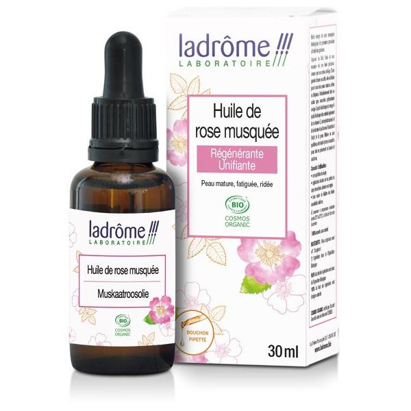 Huile végétale de rose musquée bio – 30 ml – Ladrôme
