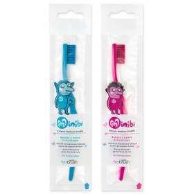 Brosses à dents enfant à base de bioplastique - couleurs bleu ou rose - Biobrush Berlin - Vue 1