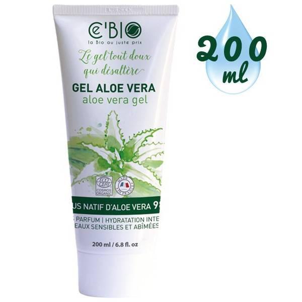 Gel Aloe Vera 98% sans parfum - 200 ml - Ce'Bio