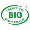 Logo Cosmebio pour le savon Bio de beauté au lait d'Ânesse parfumé aux agrumes – 100 gr – Cosmo Naturel