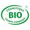 Logo Cosmebio pour le savon Bio de beauté au lait d'Ânesse parfumé aux huiles essentielles de Patchouli et d'Ylang Ylang Bio – 1