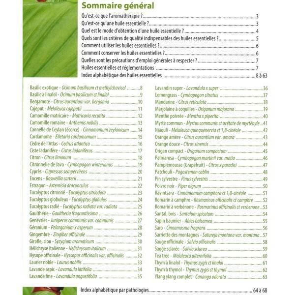 Votre guide d'utilisation des huiles essentielles bio - Sommaire général