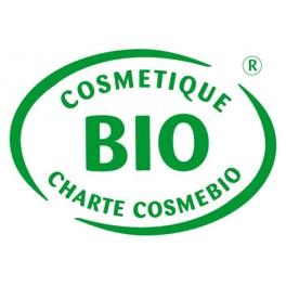 Logo Cosmebio pour le savon Bio de beauté au lait d'Ânesse parfumé aux huiles essentielles d'orange et marjolaine – Cosmo Nature