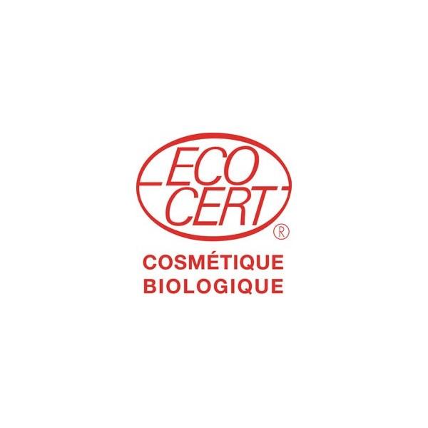 Logo Ecocert pour le savon Bio de beauté au lait d'Ânesse parfumé aux huiles essentielles d'orange et marjolaine – Cosmo Naturel