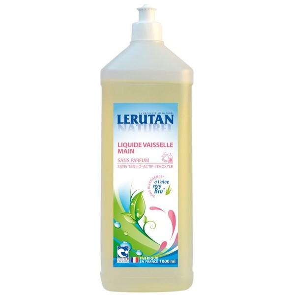 Liquide vaisselle main sans parfum – 1 litre – Lerutan
