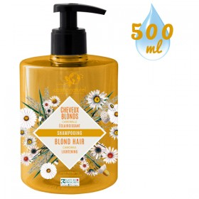 Nouvel emballage pour le shampooing Cheveux Blonds Camomille – 500ml – Cosmo Naturel