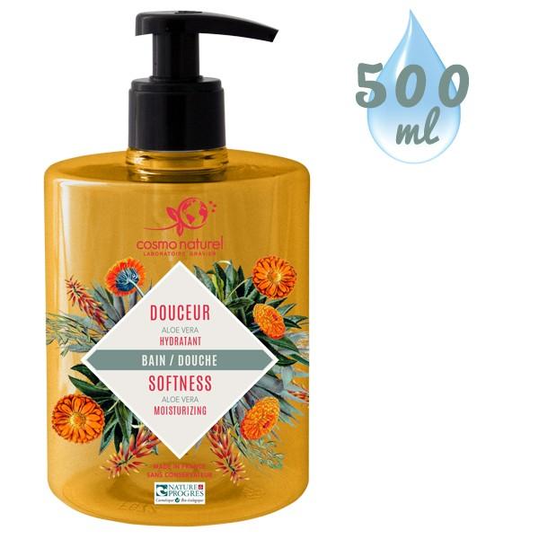Nouvel emballage pour le gel bain & douche Douceur Aloe Vera - 500ml – Cosmo Naturel