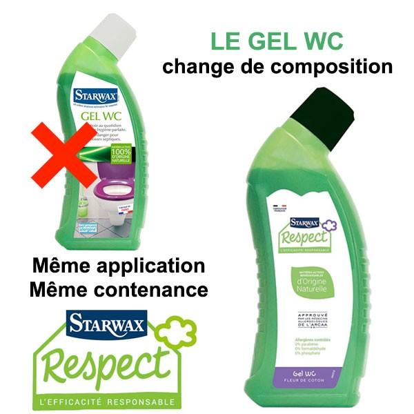Changement de composition pour le gel WC Starwax Respect