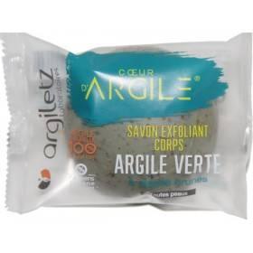 Savon exfoliant argile verte et algues brunes – 100g – Argiletz