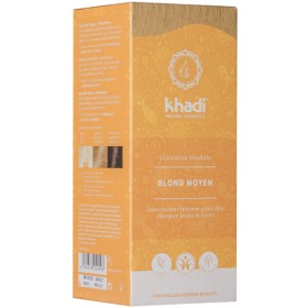 Coloration naturelle aux plantes Blond moyen - 100g - Khadi®