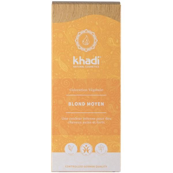 Coloration naturelle aux plantes Blond moyen - 100g - Khadi® - Vue 1
