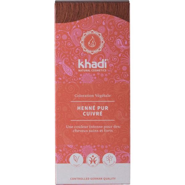 Coloration naturelle aux plantes Henné Pur Cuivré - 100g - Khadi® - Vue 1