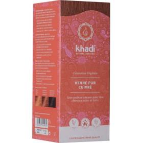Coloration naturelle aux plantes Henné Pur Cuivré - 100g - Khadi®