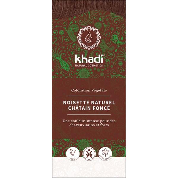 Coloration naturelle aux plantes Noisette / Chatain foncé - 100 gr - Khadi® - Vue 1