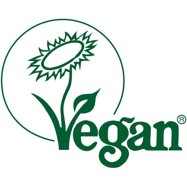 Logo Vegan pour le savon crème Santal bio Sodasan