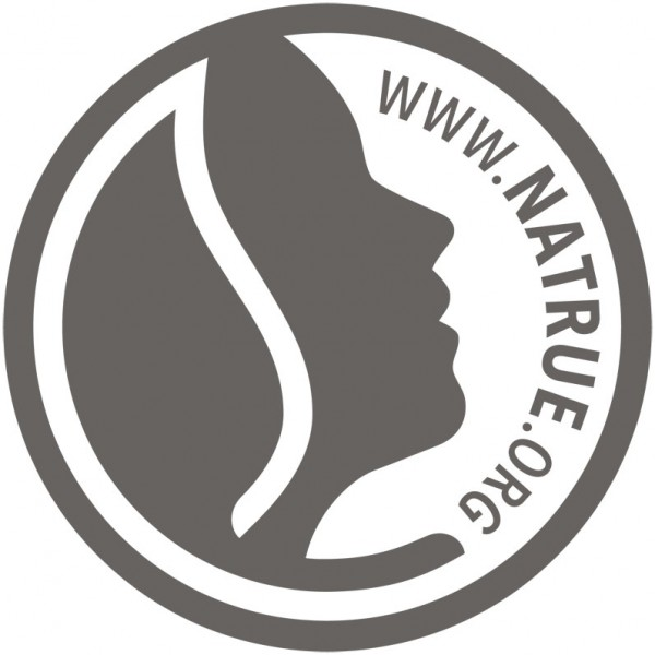 Logo Natrue pour le gel douche coco et vanille bio SANTE Family