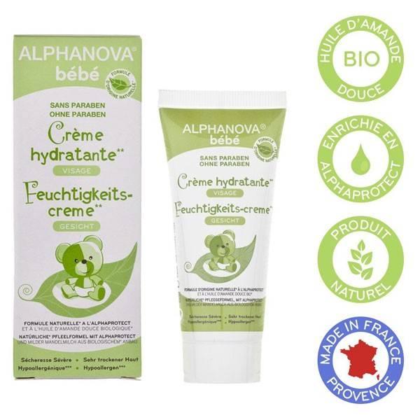 Crème bébé hydratante visage amande douce bio – 40ml – Alphanova - Vue 3