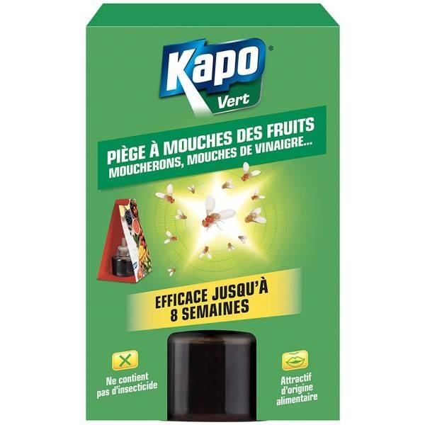 Piège à mouches des fruits, moucherons, mouches de vinaigre - Kapo Vert