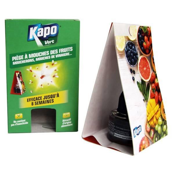 Piège à mouches des fruits, moucherons, mouches de vinaigre - Kapo Vert - Vue 1