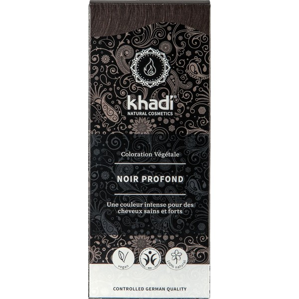 Coloration naturelle aux plantes Noir profond - 100g - Khadi® - Vue 1