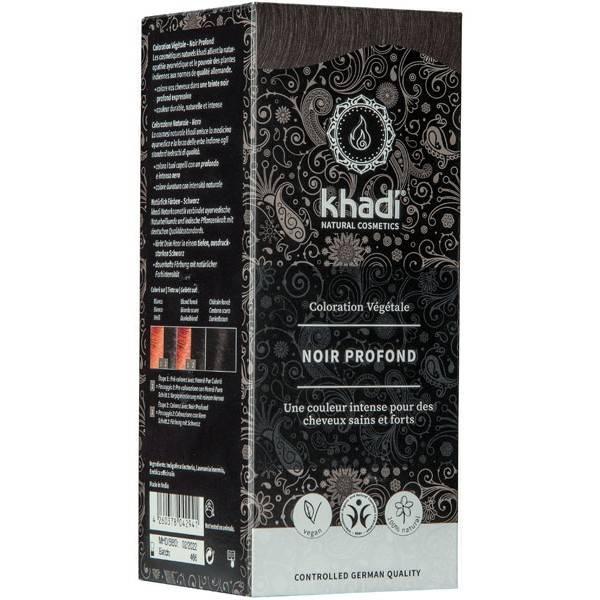 Coloration naturelle aux plantes Noir profond - 100g - Khadi®