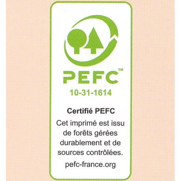 Logo PEFC pour le carnet de recettes cosmétiques Anaé
