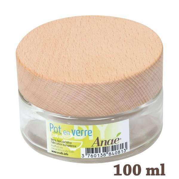 Pot en verre pour cosmétiques maison - 100 ml - Anaé