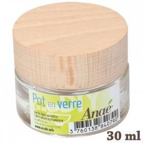Pot en verre pour cosmétiques maison - 30 ml - Anaé