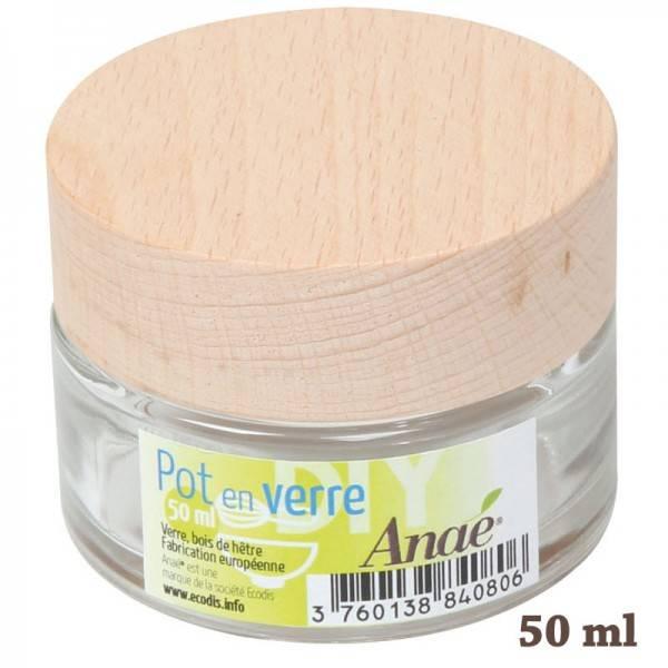 Pot en verre pour cosmétiques maison - 50 ml - Anaé