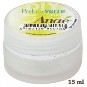 Pot en verre pour cosmétiques maison - 15 ml - Anaé