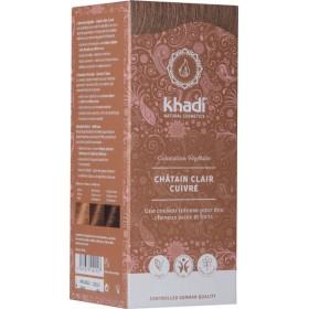 Coloration naturelle aux plantes Châtain clair cuivré - 100 gr - Khadi®