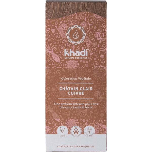 Coloration naturelle aux plantes Châtain clair cuivré - 100 gr - Khadi® - Vue 1