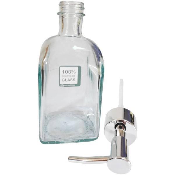 Distributeur de savon en verre recyclé - 250 ml - Anaé - Vue 1
