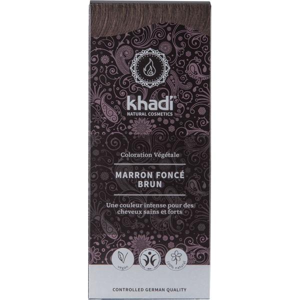 Coloration naturelle aux plantes Marron foncé brun - 100 gr - Khadi® - Vue face